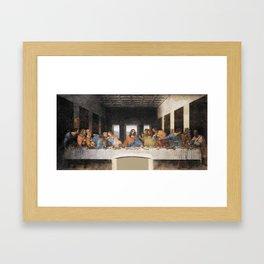 The last supper- painting by Leonardo da Vinci Framed Art Print