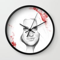 dexter Wall Clocks featuring DEXTER by Olechka