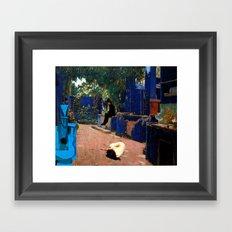 the blue guitar Framed Art Print