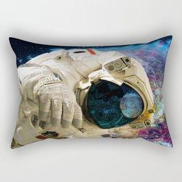Extra Dimensional Space Walk Rectangular Pillow