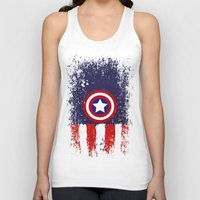 "steve rogers Tank Tops featuring Captain ""Steve Rogers"" America by Some_Designs"