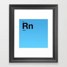 Radon Framed Art Print