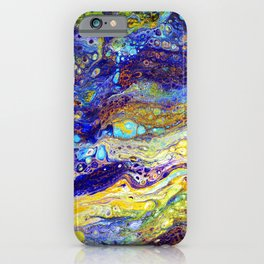 Blue Green Oasis Enhanced iPhone Case
