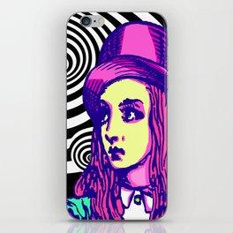 Purple Alice Vortex iPhone Skin