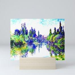 Claude Monet - Morning on the Seine, near Vetheuil 1878 Mini Art Print