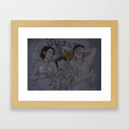 Leia, Ben & Han Framed Art Print