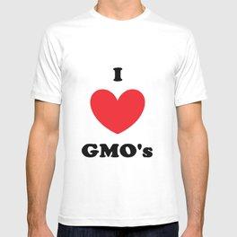 I Love GMO's T-shirt