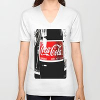coca cola V-neck T-shirts featuring Coca-Cola Nostalgia by Vorona Photography