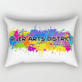River Arts District - Asheville - AVL 17 White Rectangular Pillow