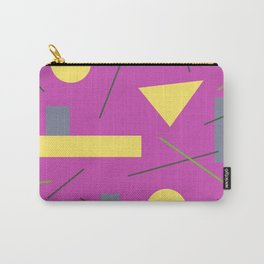 Geometry on Pink Carry-All Pouch