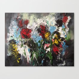 Escaping roses Canvas Print
