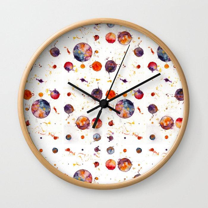 watercolor bubbles Wall Clock