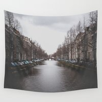 amsterdam Wall Tapestries featuring Amsterdam by Katerina Lesslerova