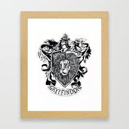 Gryffindor Framed Art Print