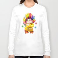 indian Long Sleeve T-shirts featuring Indian  by tatiana-teni