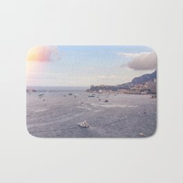Seacoast in front of Monaco in French Riviera in summer Bath Mat