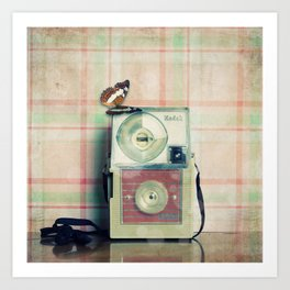 Vintage Camera Love: Pink Kodak Hawkeye Flashfun! Art Print