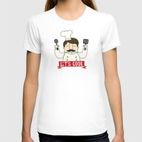 cook T-shirts featuring Let's Cook! by Lalaine Lim
