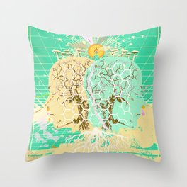AI MERGE Throw Pillow