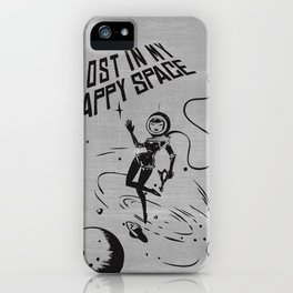 Lost In My Happy Space, grey iPhone Case