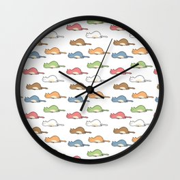 Tired Cats Wall Clock