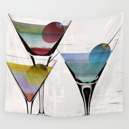 Martini Prism Wall Tapestry