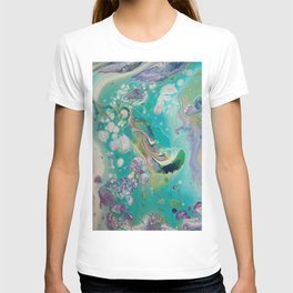Fluid Nature - Mermaid Seas - Abstract Acrylic Art T-shirt