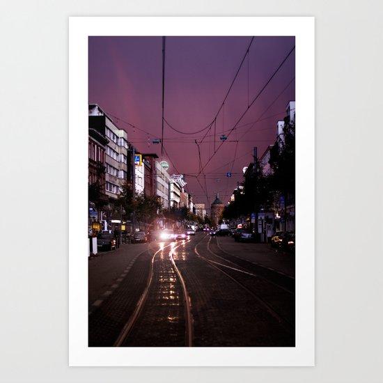 Mannheim City Art Print
