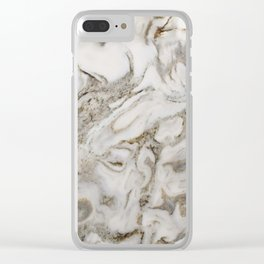 Crema marble Clear iPhone Case