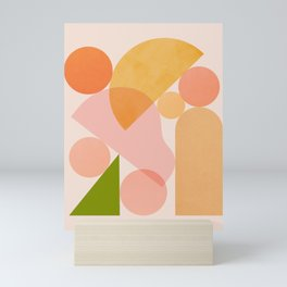 Abstraction_SHAPES_COLOR_Minimalism_002 Mini Art Print