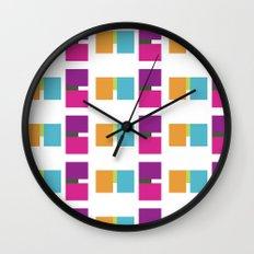 ME ME ME pattern Wall Clock