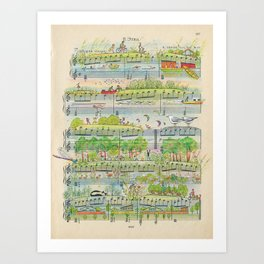 my village Art Print