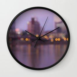 Portland at Dawn Wall Clock