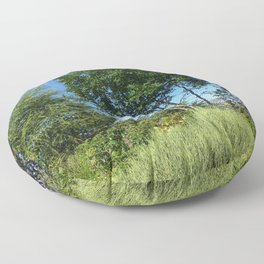 Trees and the mountain Floor Pillow