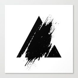 Splashed Triangle Canvas Print