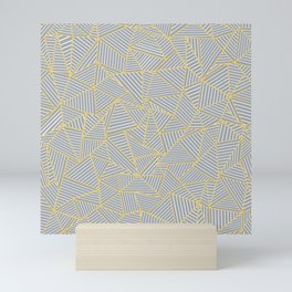 Ab Outline Gold and Grey Mini Art Print