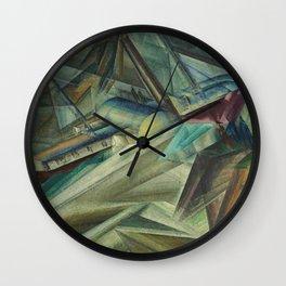 The Peddle Streamer III Nautical Landscape by Lyonel Feininger Wall Clock