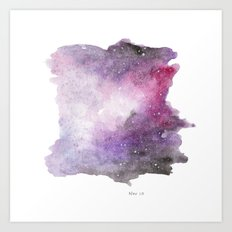 Galaxy Watercolor Art Print