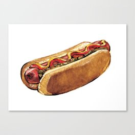 Just Hot Dog Canvas Print