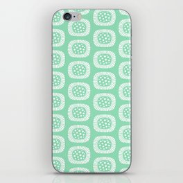 Mid Century Modern Atomic Sunburst Mint Green iPhone Skin