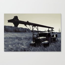 The Old Work Truck Canvas Print