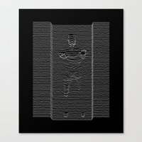 joy division Canvas Prints featuring Joy Division: Going Solo by The Cracked Dispensary
