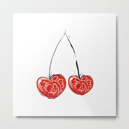 Cherry in love Metal Print