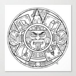Pencil Wars Shield Canvas Print