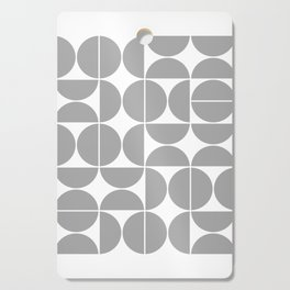 Mid Century Modern Geometric 04 Grey Cutting Board