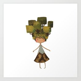 Tree head Art Print