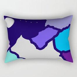 mountains and night sky Rectangular Pillow