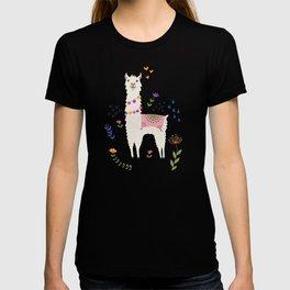 Llama on Blue T-shirt