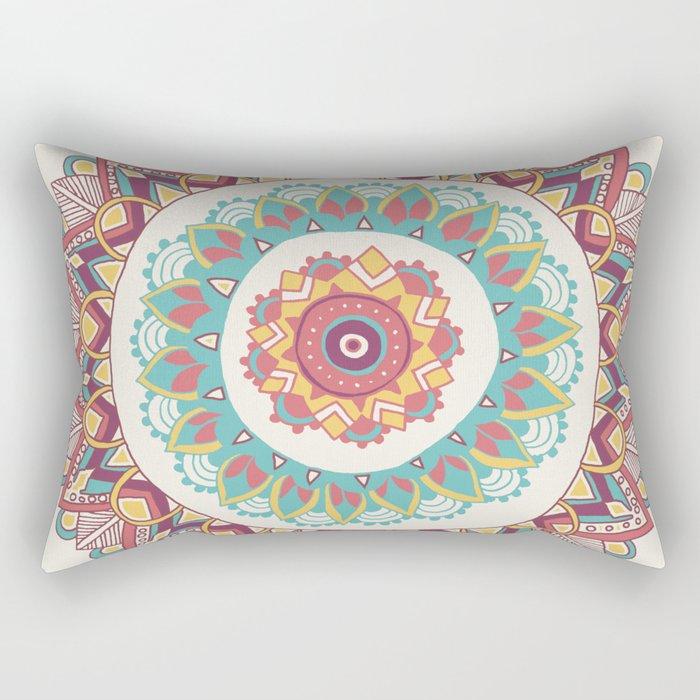 Midsummer Mandala Rectangular Pillow