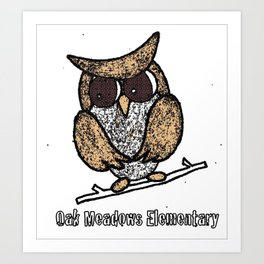 Oak Meadows Owls - Comicesque Art Print